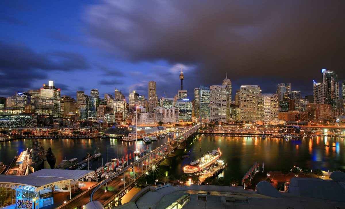 Darling Harbour City Centre of Sydney of Australia Country HD …
