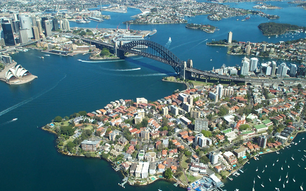 Sydney Harbour Bridge From The Air | Free Desktop Wallpapers for …