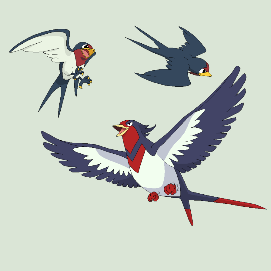 Pokemon Base 33~Taillow Evolution~ by Xbox-DS-Gameboy on DeviantArt