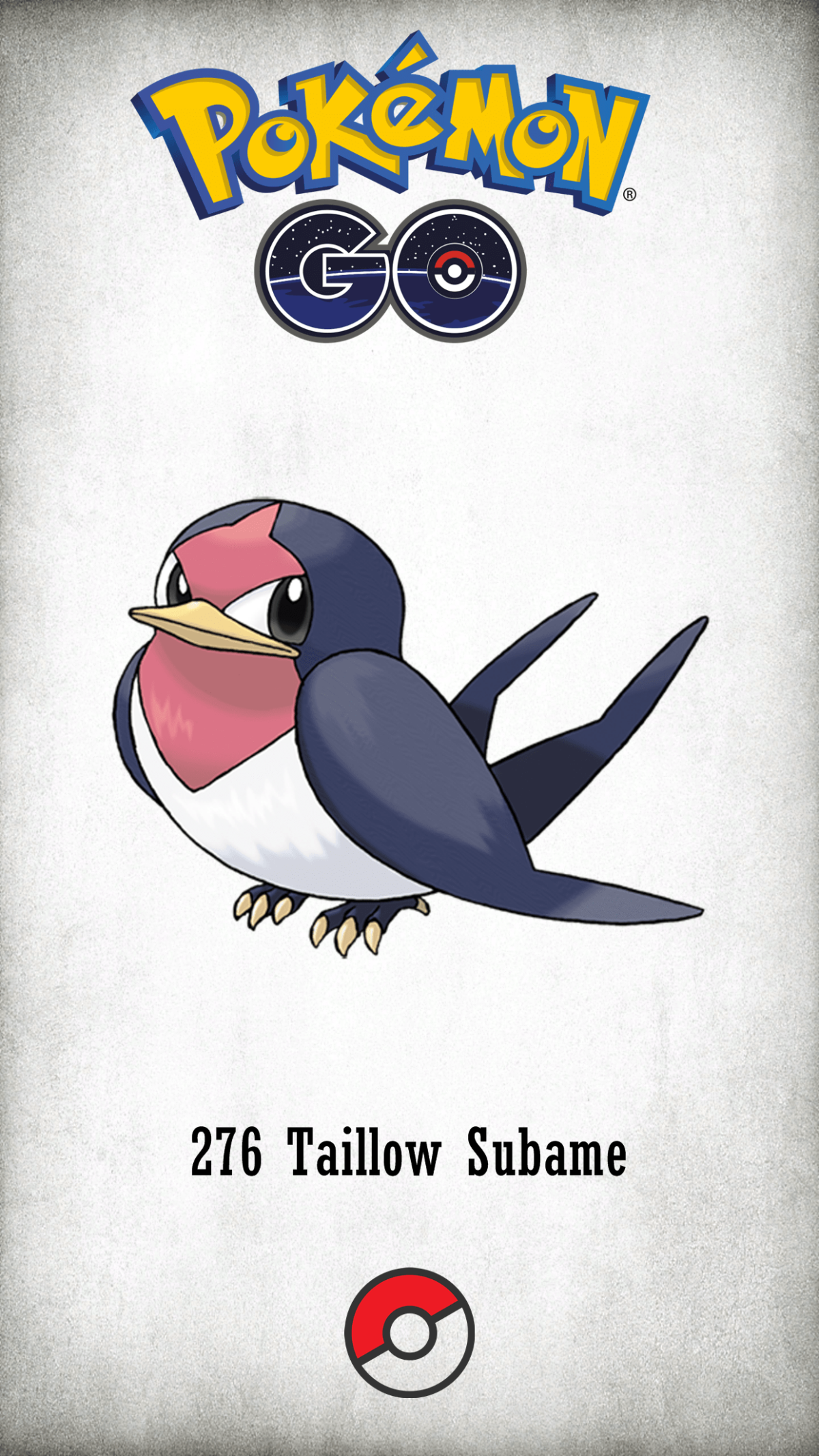 276 Character Taillow Subame | Wallpaper