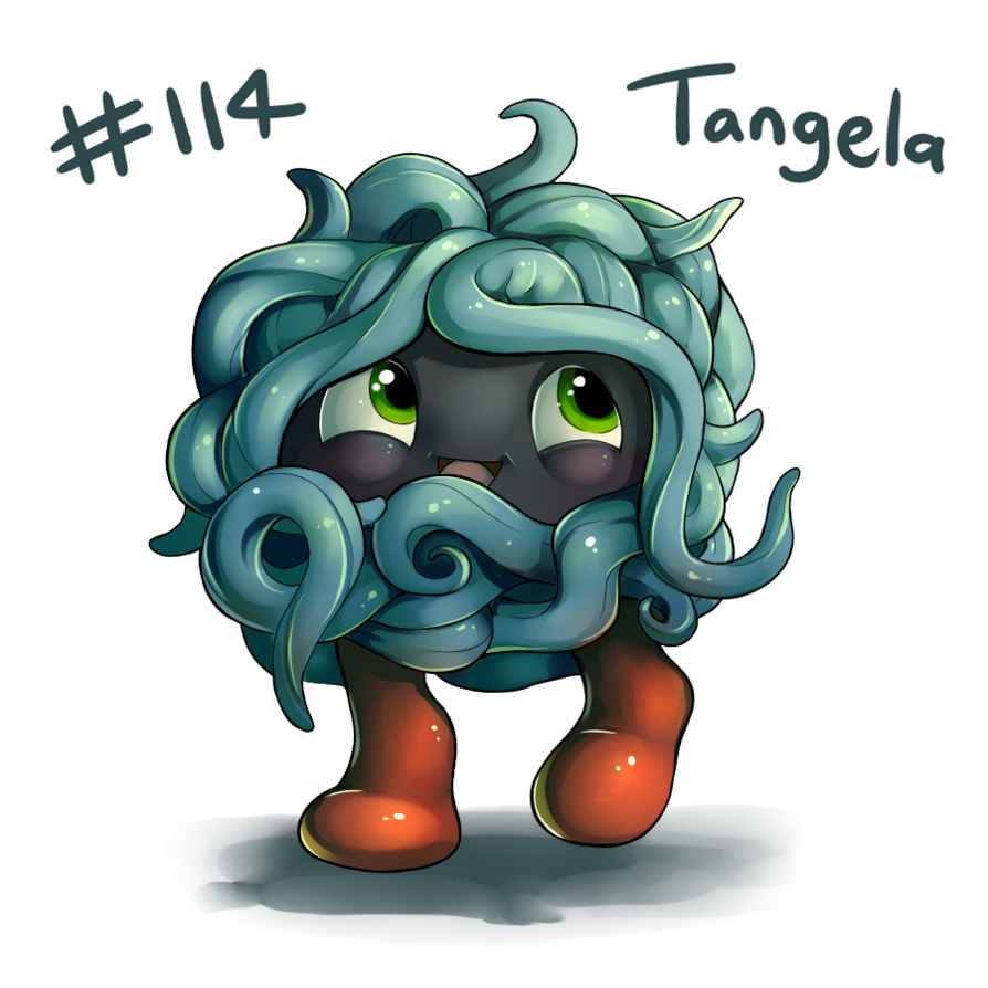 114 – Tangela by oddsocket on DeviantArt