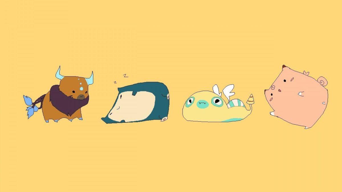 ScreenHeaven: Clefairy Pokemon Snorlax Tauros simple background …