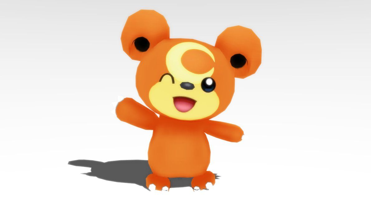 MMD Pokemon Teddiursa Model DL by MMDSatoshi on DeviantArt