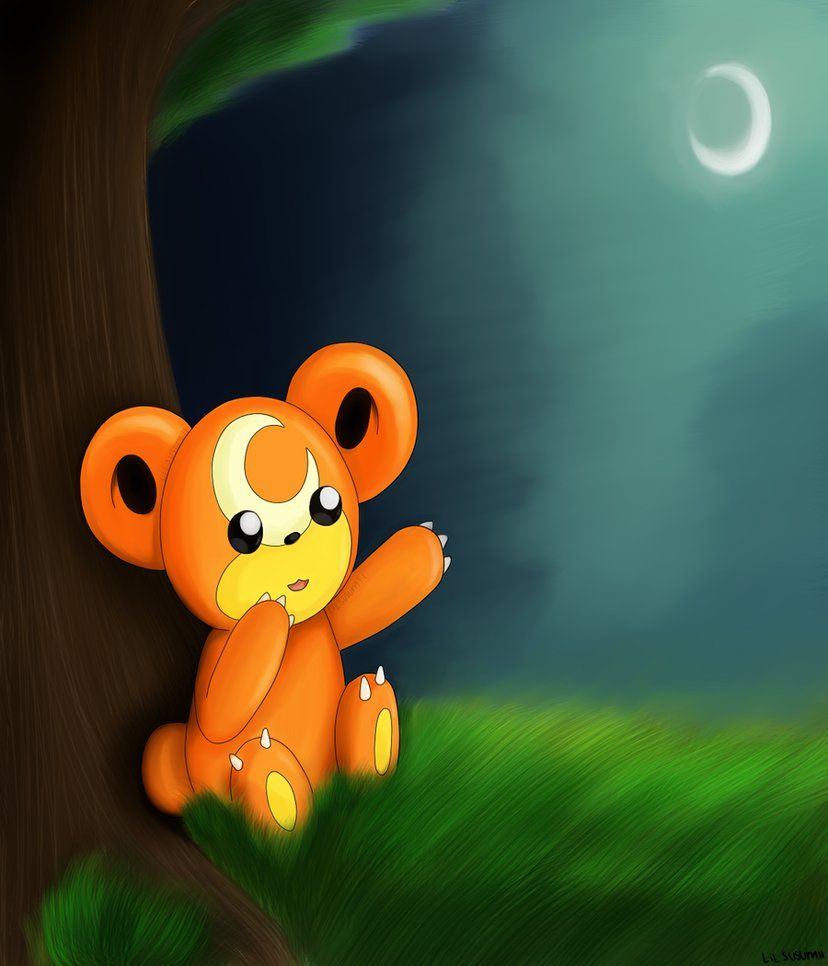 Teddiursa Wallpaper – 150 Wallpapers minimalistas Pokémon HD …