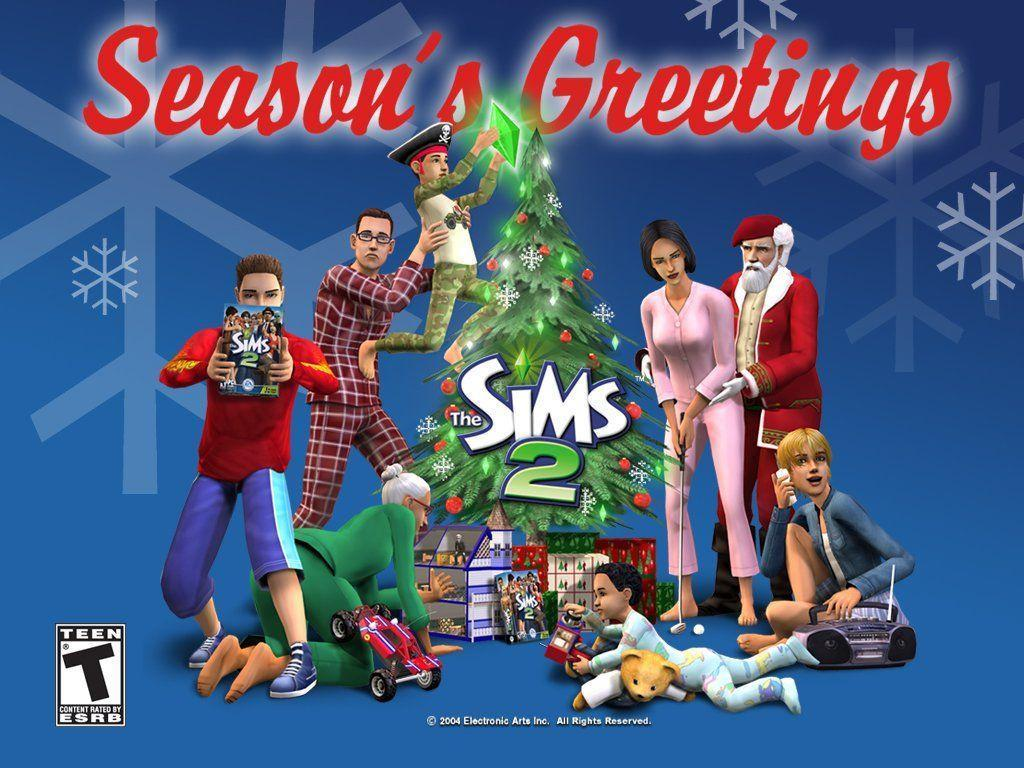 My Free Wallpapers – Games Wallpaper : The Sims 2 – Christmas