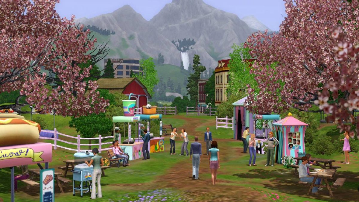 4 Staions – The Sims Wallpaper