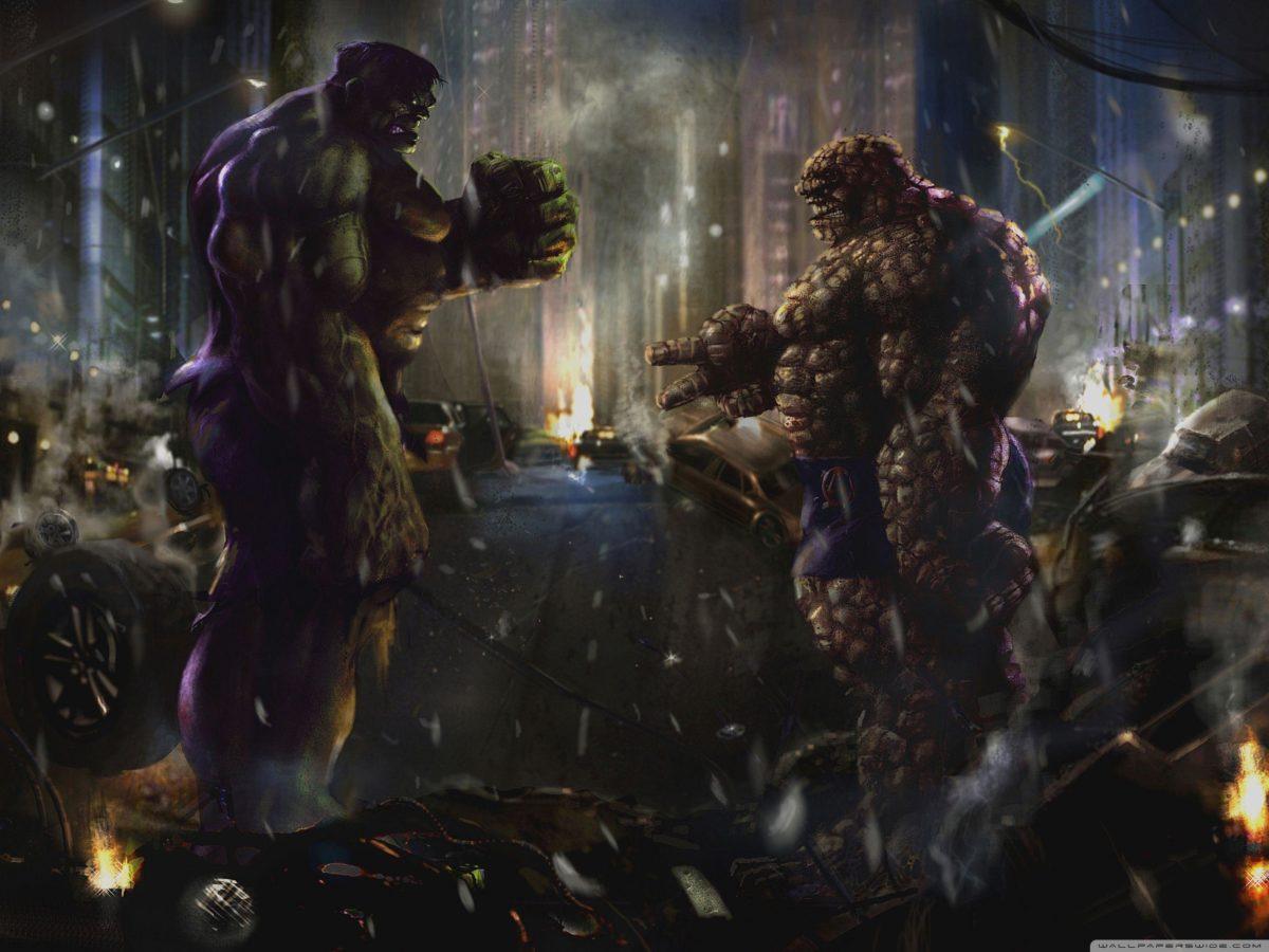 Hulk vs Thing HD desktop wallpaper : High Definition : Fullscreen