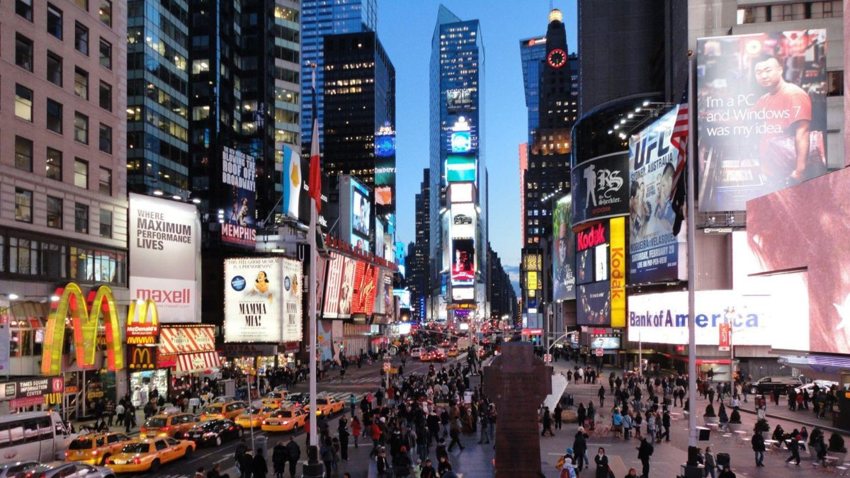 Times Square Evening 1920×1080 wallpaper