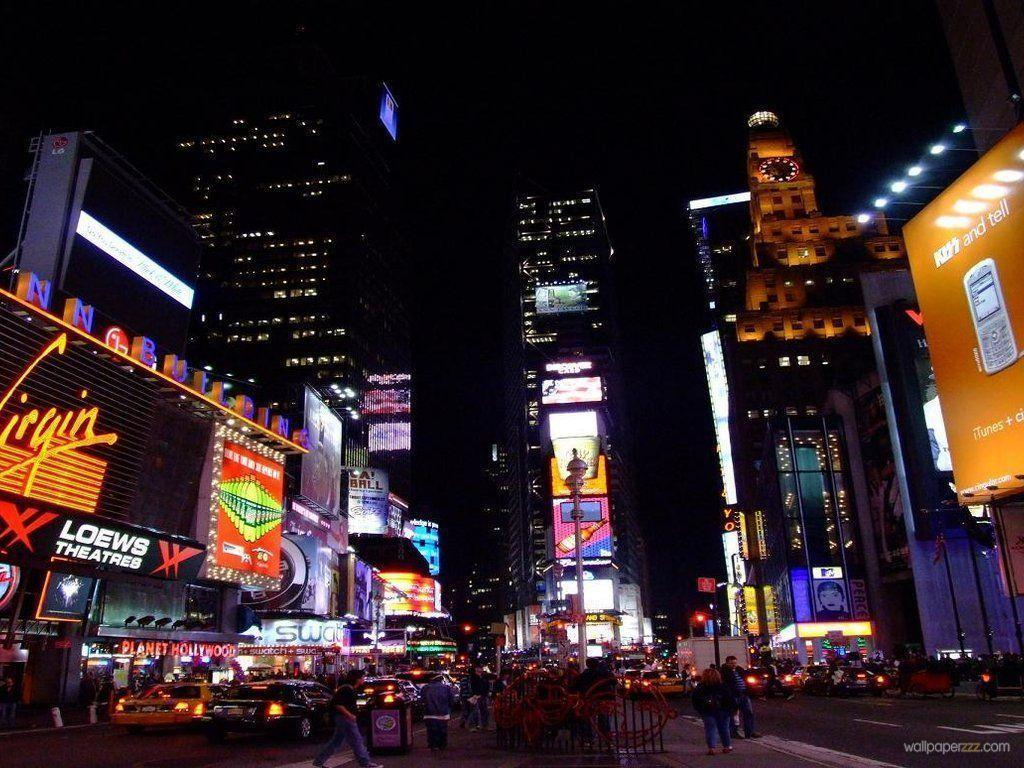 Night Times Square New York HD Wallpaper for Desktop 7345 – smakkat.