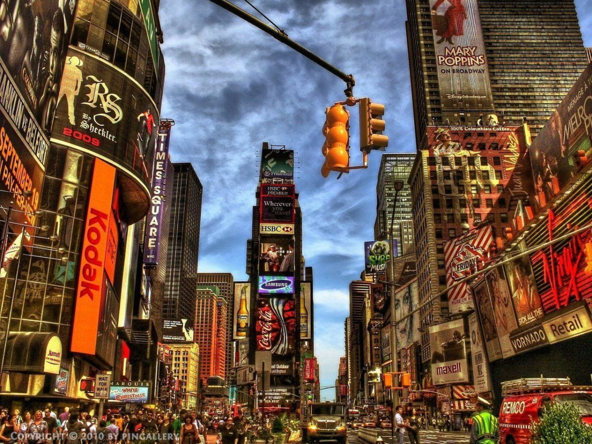 Images For > Times Square Wallpaper Black And White