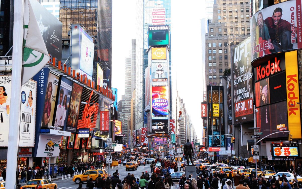 New York Times Square Building 2560×1600 wallpaper