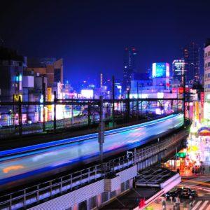 download Download Wallpaper 3840×2160 night, lights, buildings, railway …