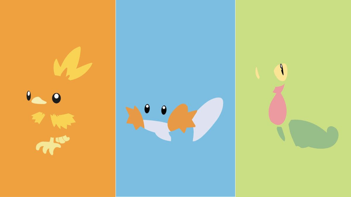 A gen 3 starter wallpaper I created. Use it if you'd like! I got the …