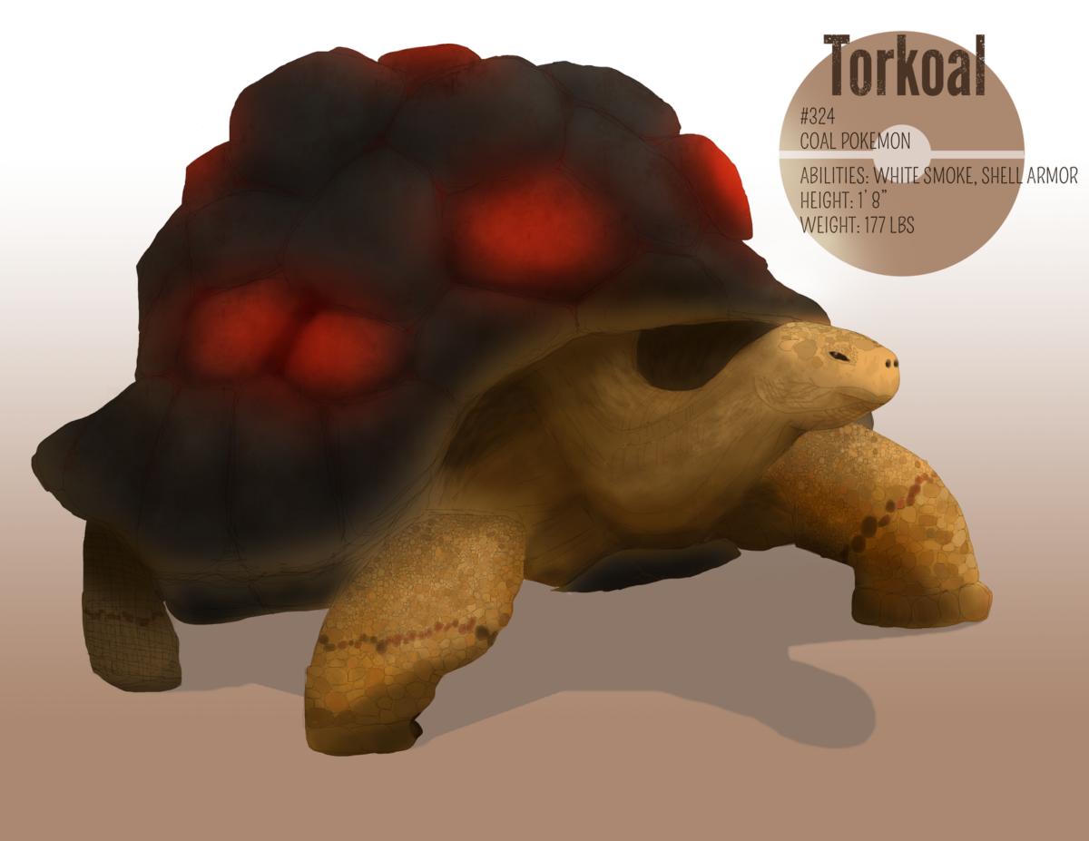 Torkoal by werefrog on DeviantArt