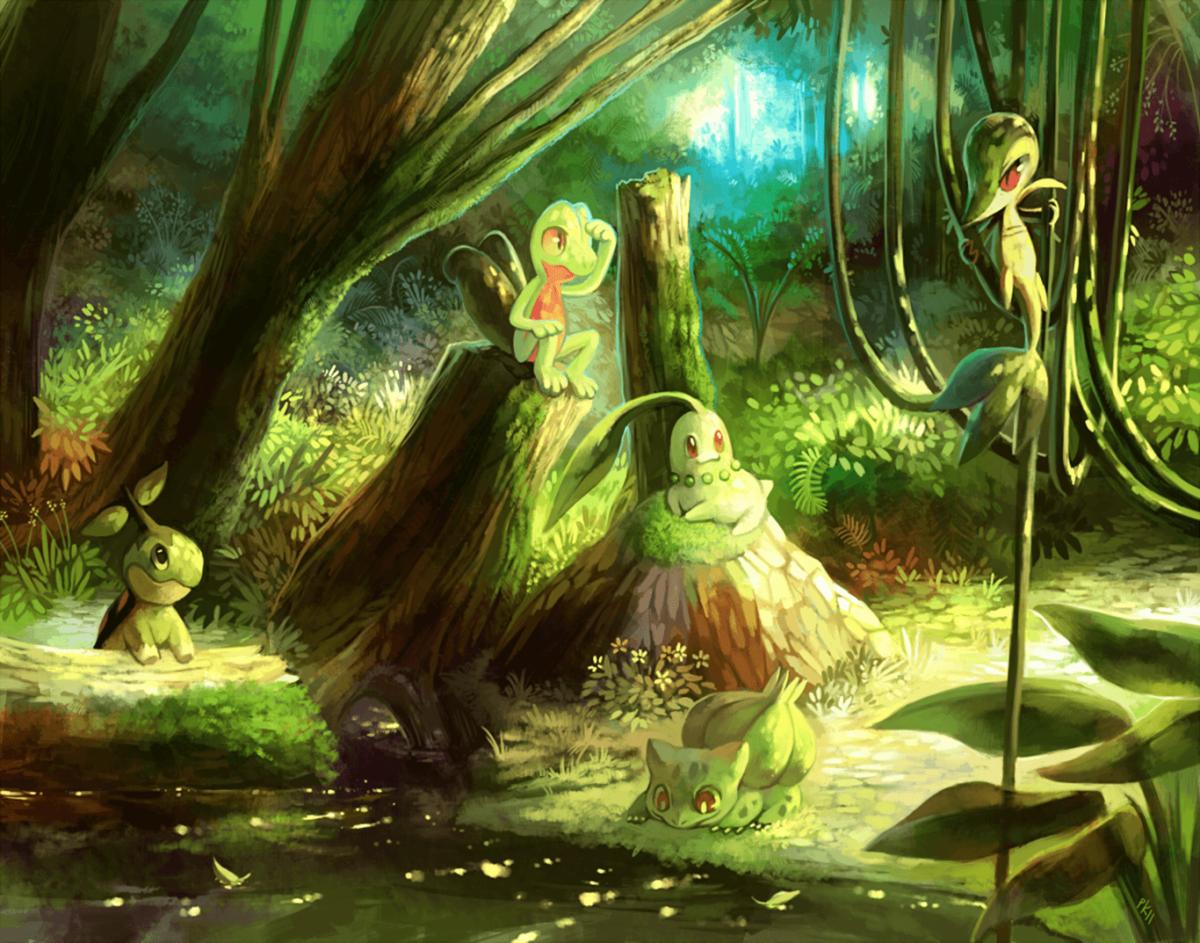 76 Grass Pokémon HD Wallpapers | Backgrounds – Wallpaper Abyss