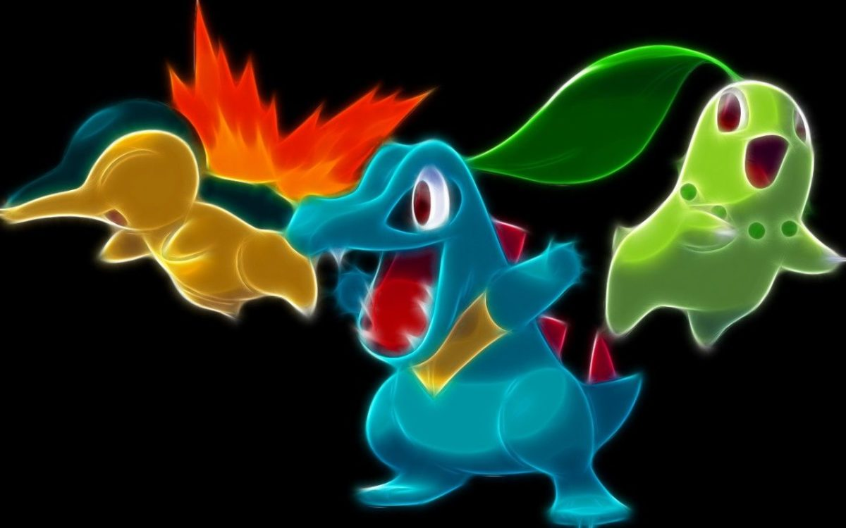 pokemon totodile cyndaquil chikorita black background 1280×800 …