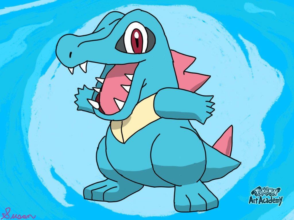 Pokemon Art Academy- Totodile by SusanLucarioFan16 on DeviantArt