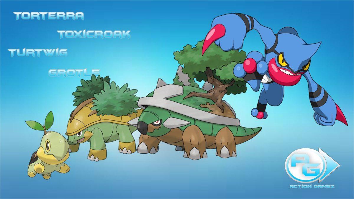 Respawn do Torterra, Toxicroak, Grotle e do Turtwig – OT Pokemon …
