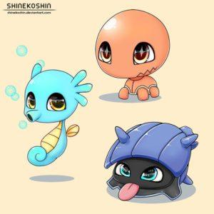 download Baby Pokemon: Trapinch, Shellder and Horsea by shinekoshin on DeviantArt