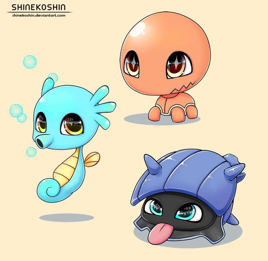 Baby Pokemon: Trapinch, Shellder and Horsea by shinekoshin on DeviantArt