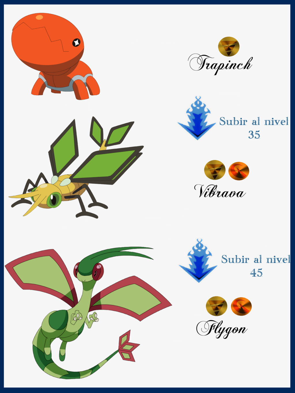 155 Trapinch Evoluciones by Maxconnery on DeviantArt