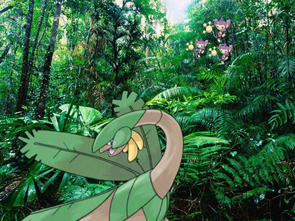Pokemon around the world – Tropius in a rainforest by Amewsing on …