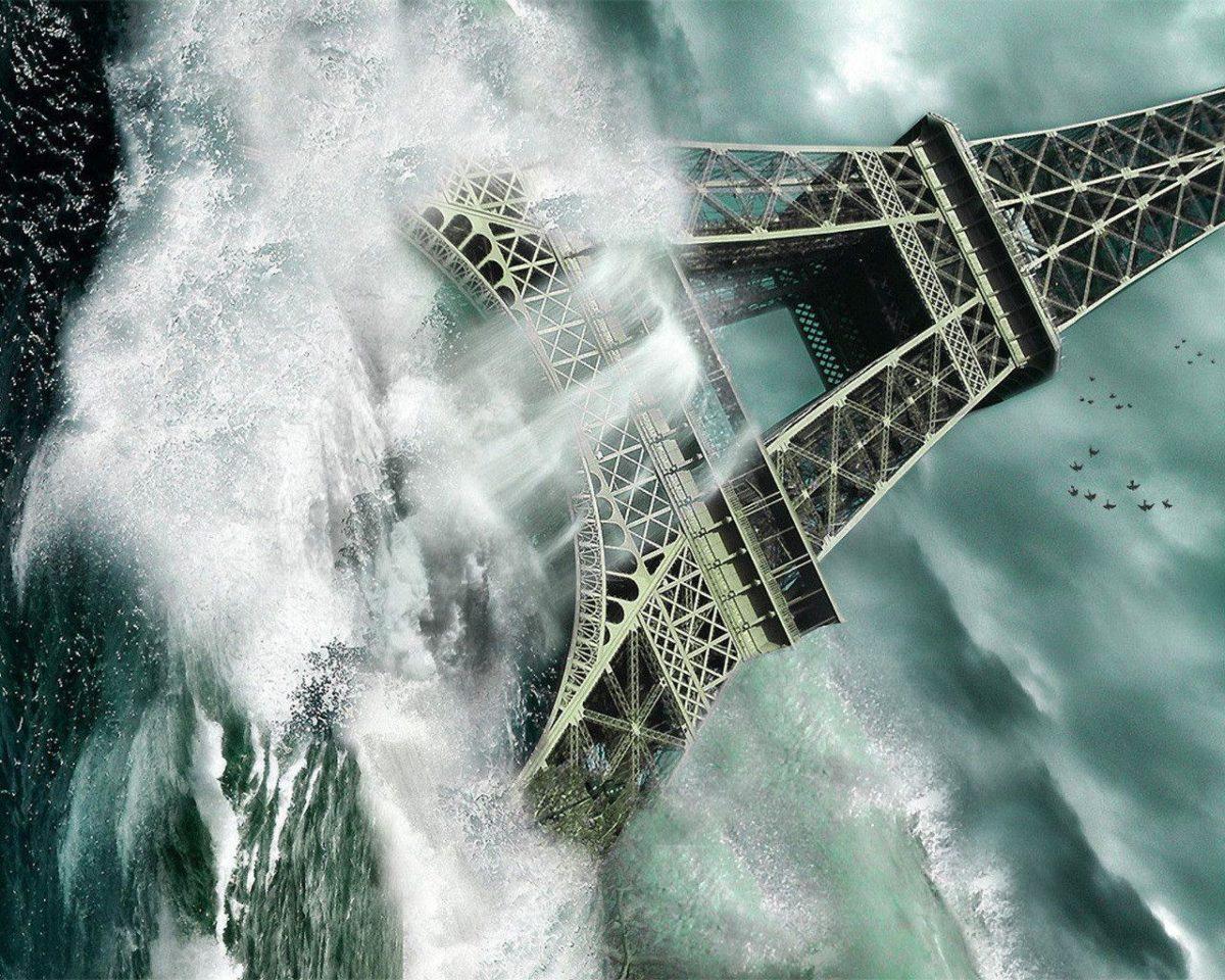 Photography : Captivating Tsunami At Eifel Tower Picture Desktop …