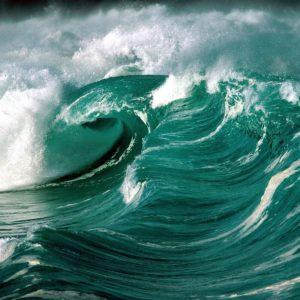 download Tsunami waves on ocean free desktop background – free wallpaper image