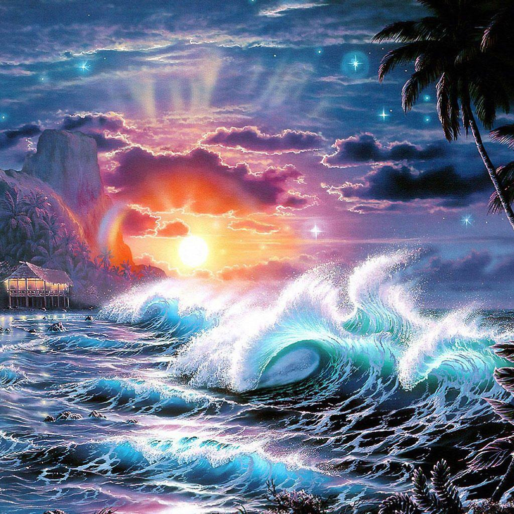 Tsunami, iPad Backgrounds, Best iPad Wallpaper, Wallpaper