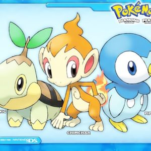 download Pokemon Starters Piplup,Chimchar,Turtwig, ash, brock, chimchar, dawn …