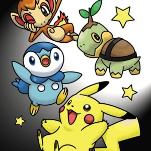 download Pikachu, Turtwig, Chimchar, and Piplup Color Page by MihaelLawliet …
