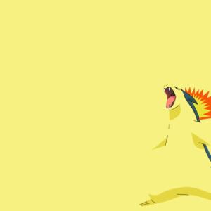 download Typhlosion Wallpaper 01 – Minimalism by Ymeisnot on DeviantArt