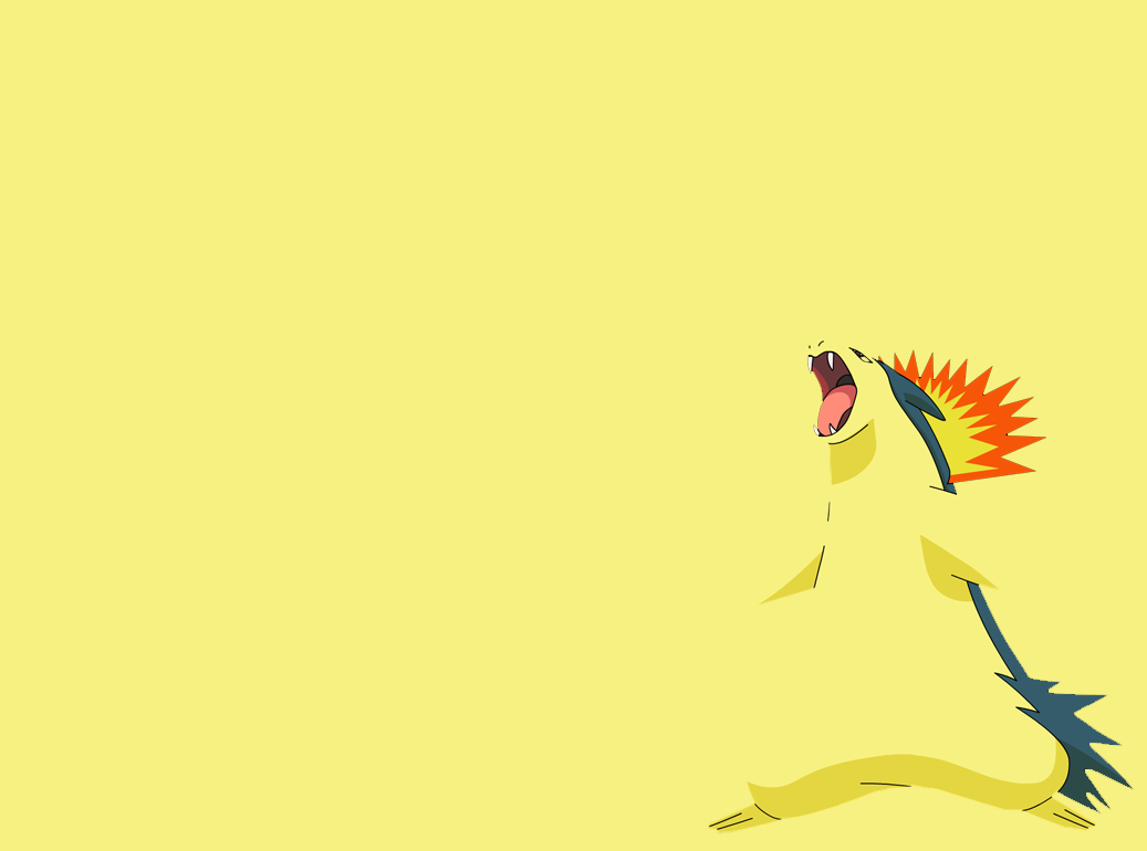 Typhlosion Wallpaper 01 – Minimalism by Ymeisnot on DeviantArt