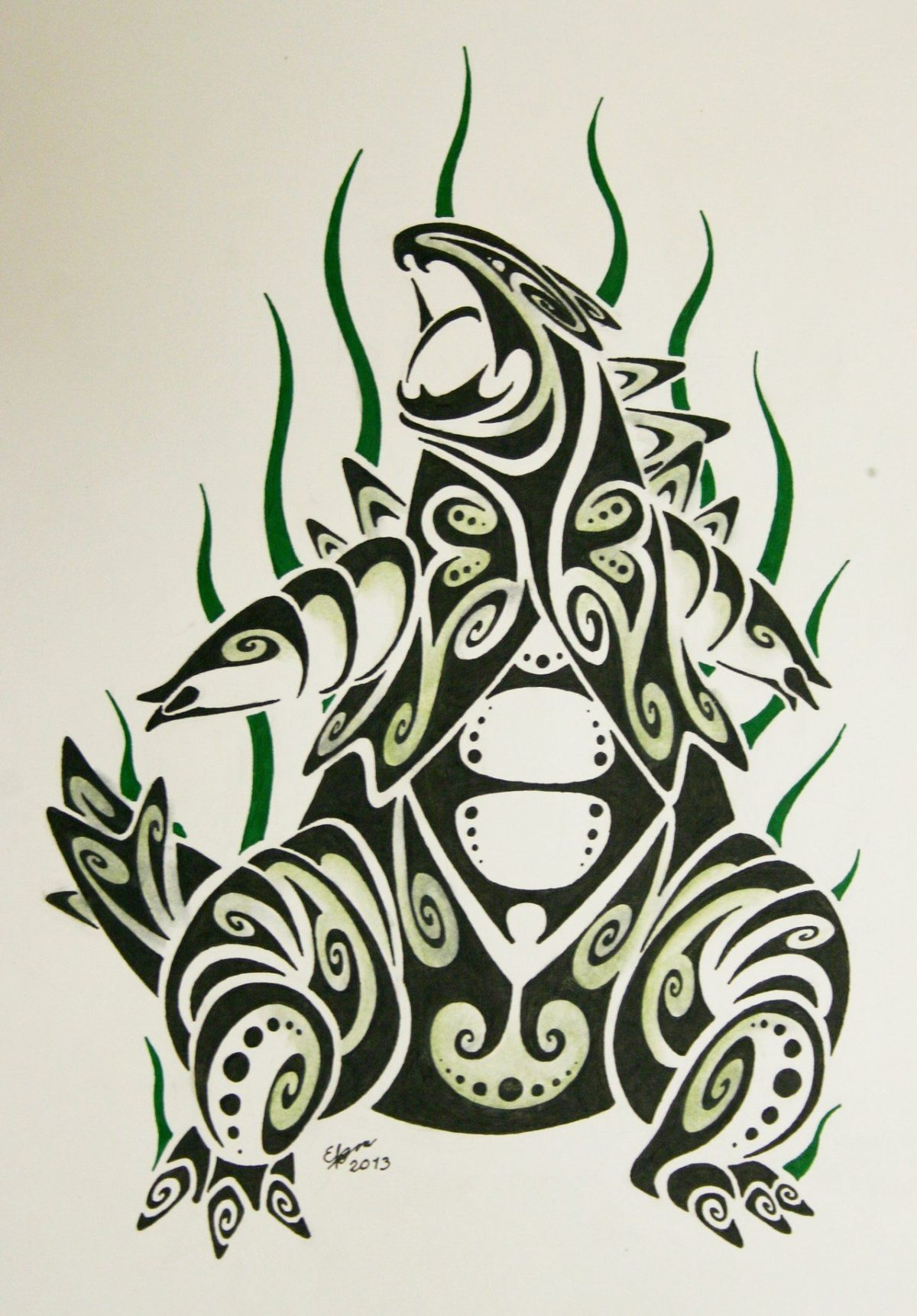 Tribal tyranitar by Esmeekramer on DeviantArt