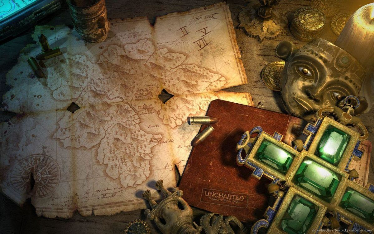 Download 1280×800 Uncharted Emerald Cross Relic Wallpaper