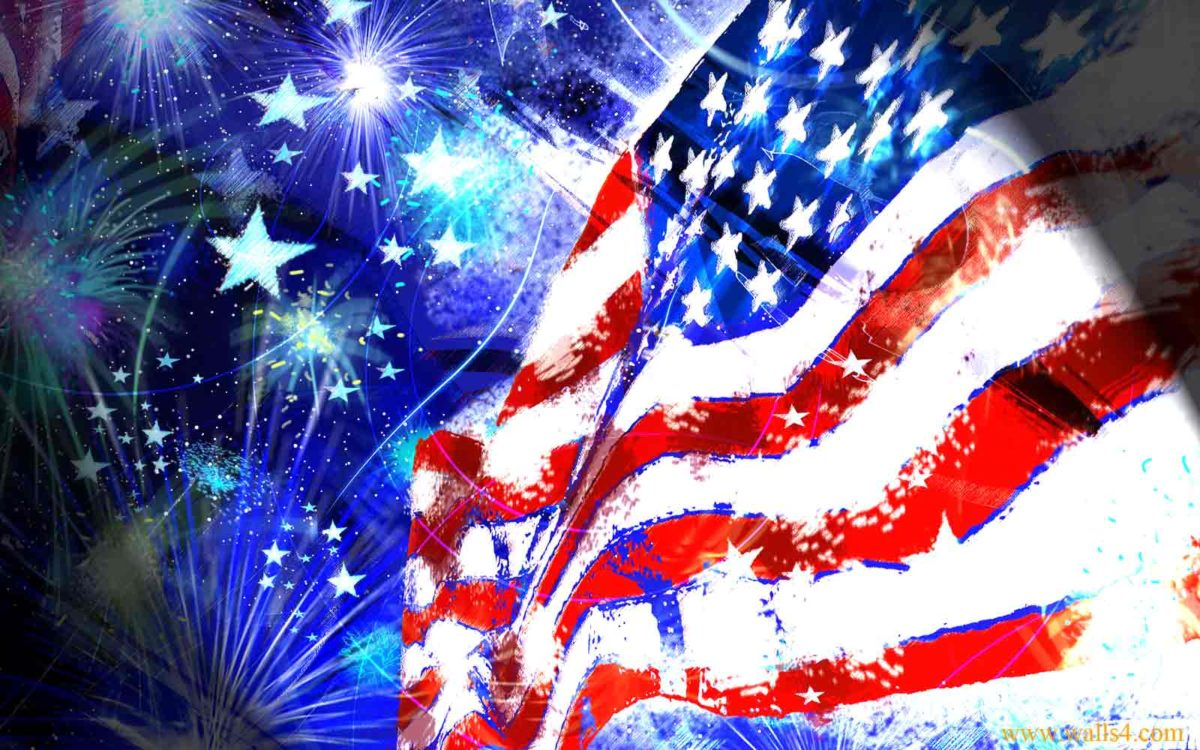 Free Wallpapers – Flag Independence Day USA wallpaper
