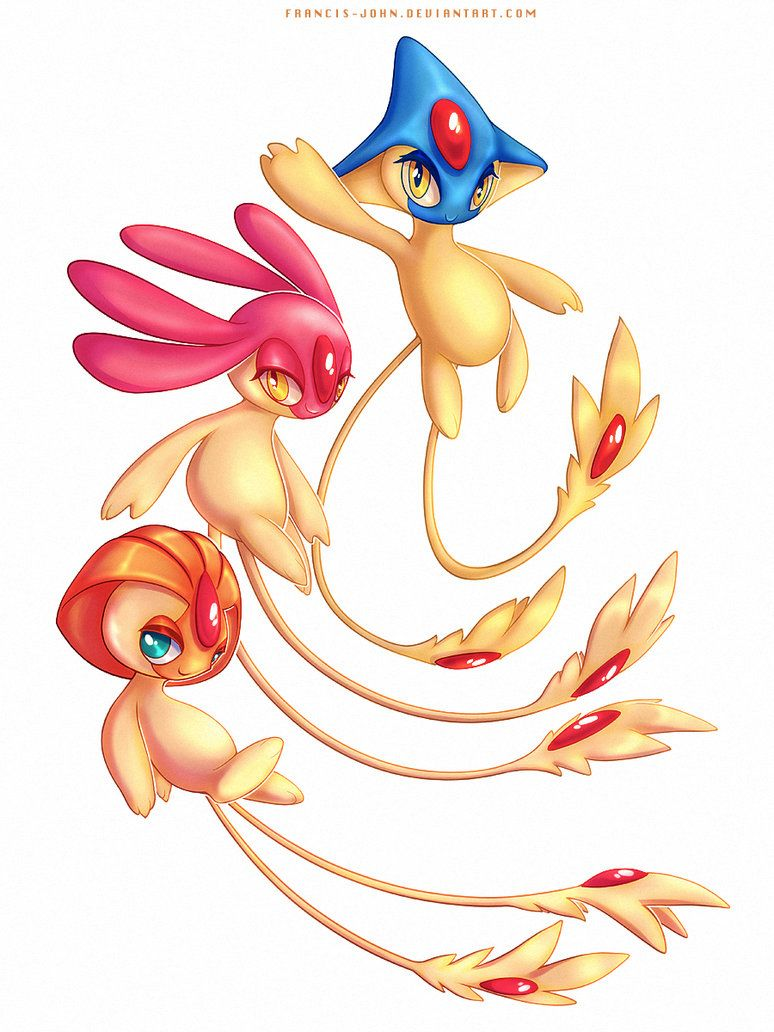 Shiny Uxie Mesprit and Azelf by francis-john on DeviantArt