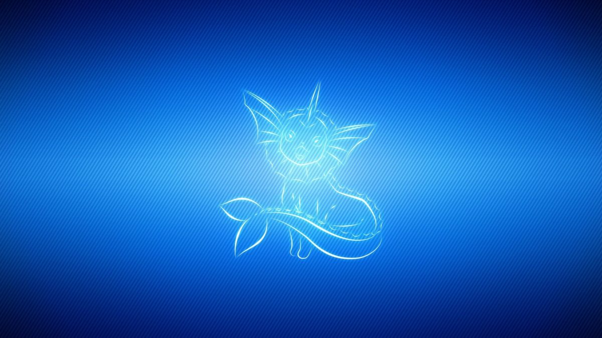 Download Wallpaper 1920×1080 Vaporeon, Light, Line, Pokemon blue …