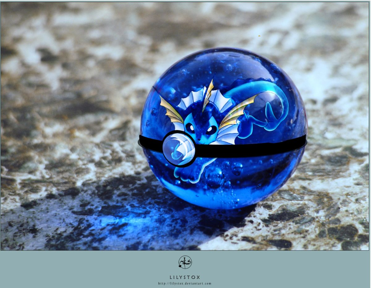 Vaporeon's Pokeball by CronixMelody.deviantart.com on @DeviantArt …