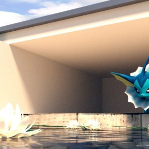 download Vaporeon – We have a pool! [WALLPAPER] [3D MODEL] by TheModerator …
