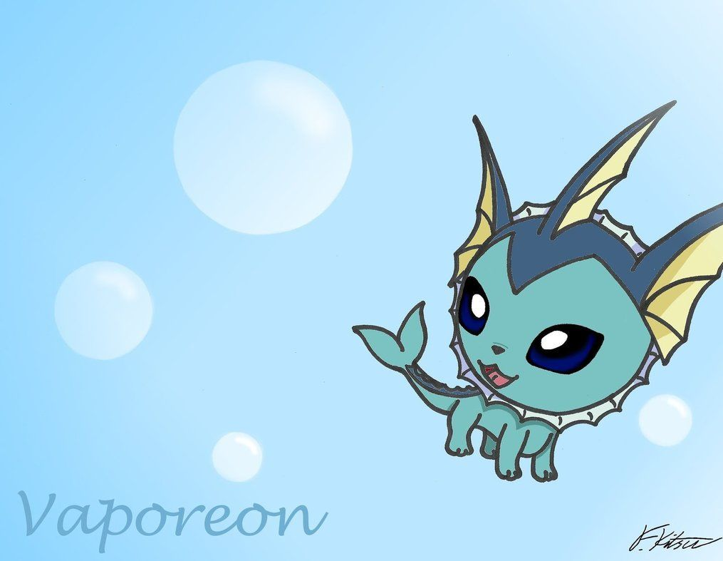 Chibi Vaporeon Wallpaper by Flareonsk8r on DeviantArt