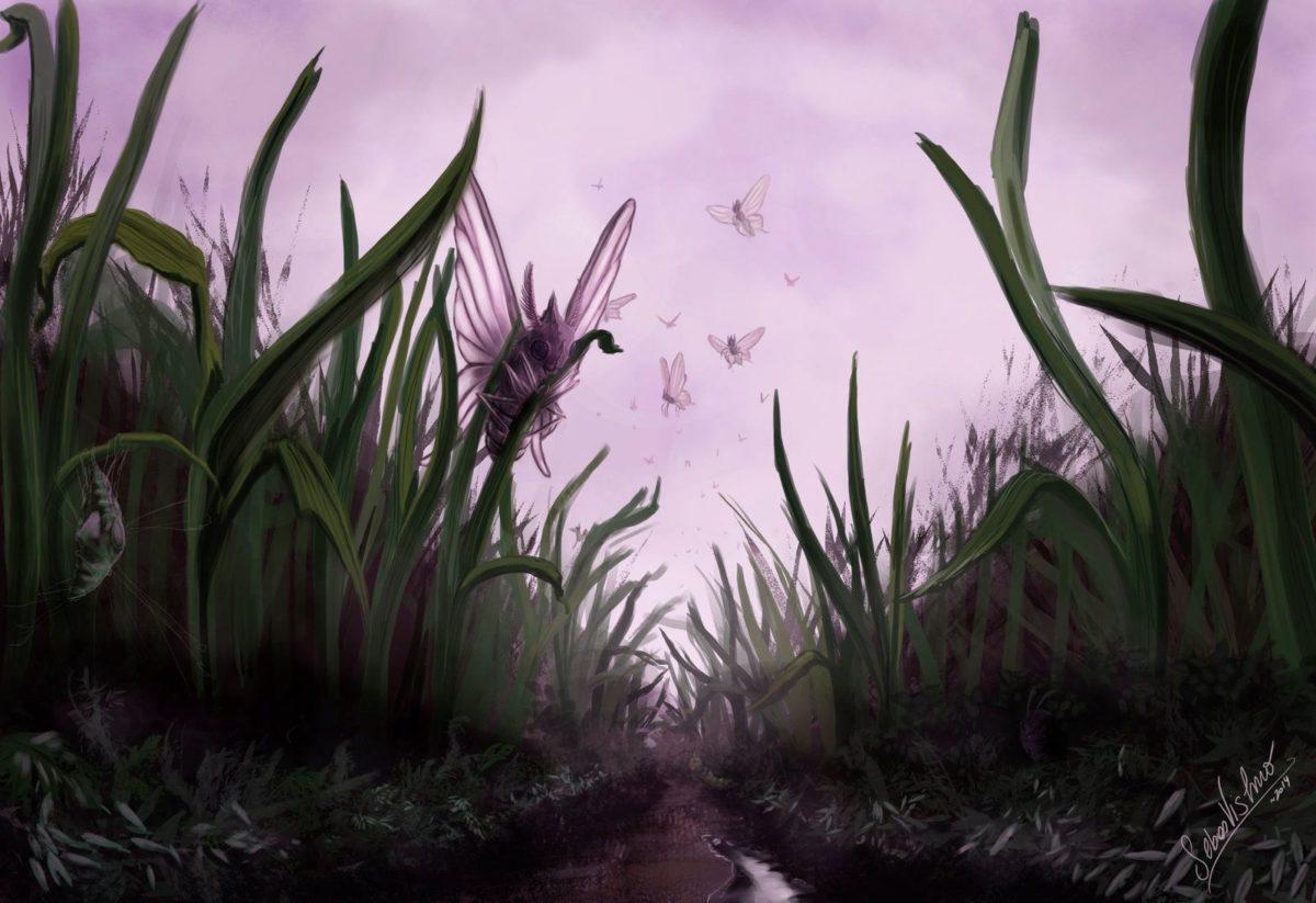 Pokesafari: Venomoth and the tall grass by SebasVishno on DeviantArt