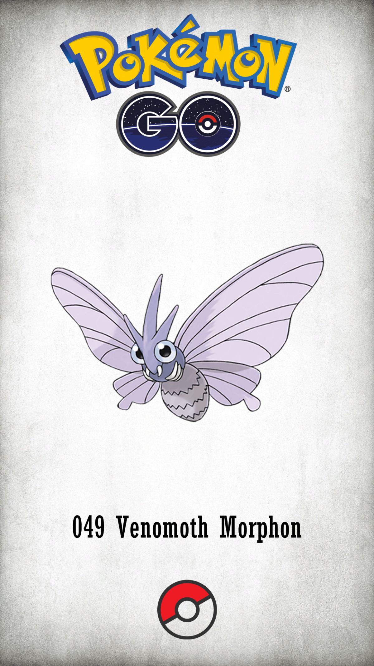 049 Character Venomoth Morphon | Wallpaper