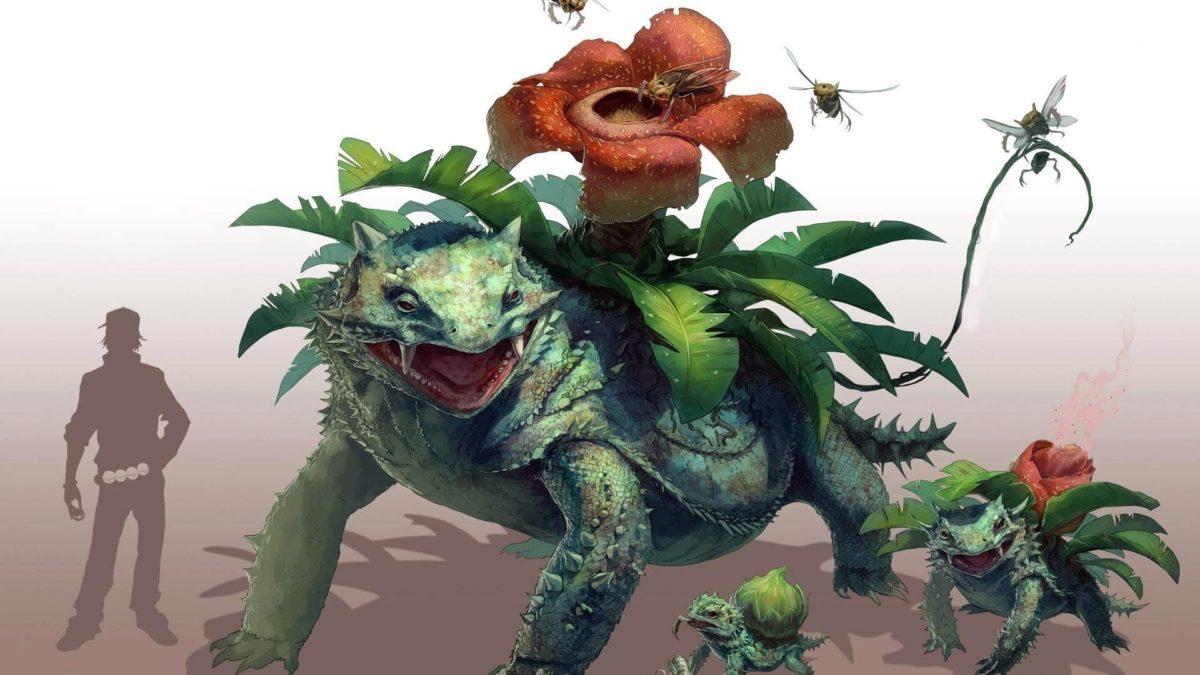 bulbasaur ivysaur venusaur fantasy art bulbasaur art HD wallpaper
