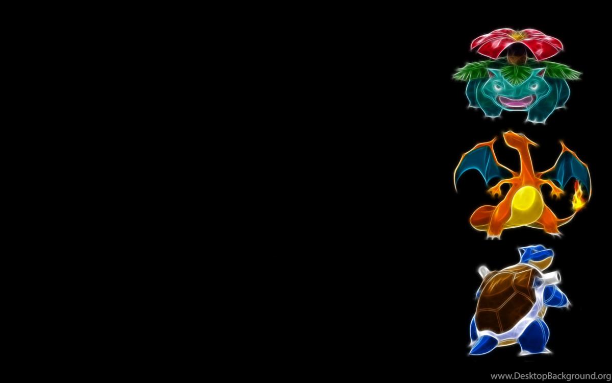 Pokemon Venusaur Blastoise Charizard Black Backgrounds Desktop …