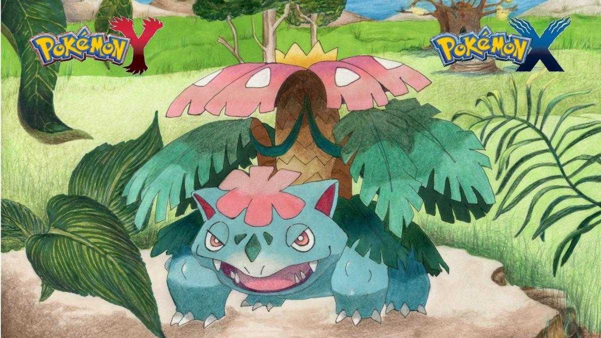 Drawing Mega Venusaur Pokémon No. m003 {Speed Art} – YouTube
