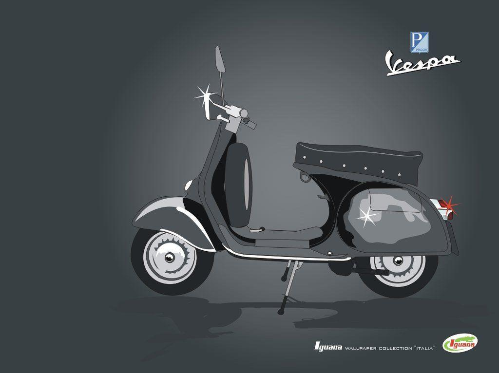 Vespa drawing 2 by limoncello on DeviantArt
