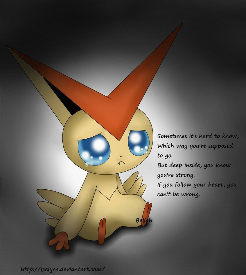 Sad Victini by Izelyca on DeviantArt