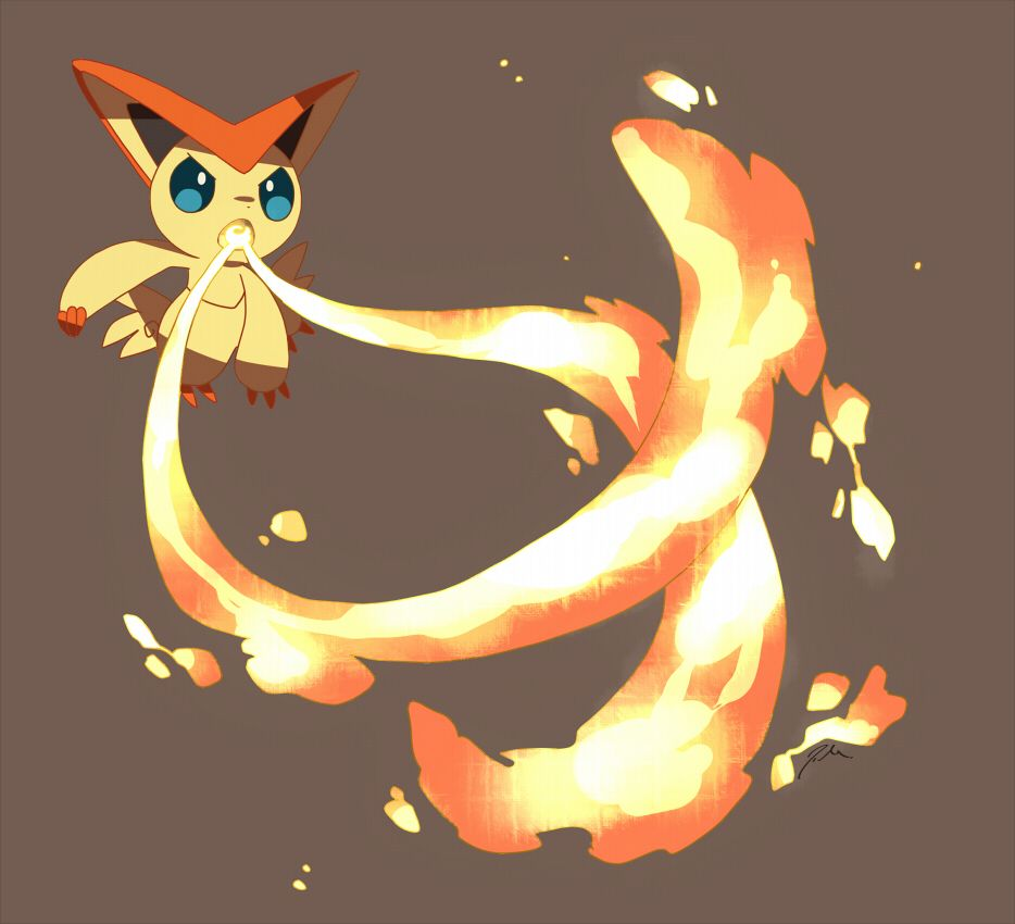 Victini by bluekomadori on DeviantArt