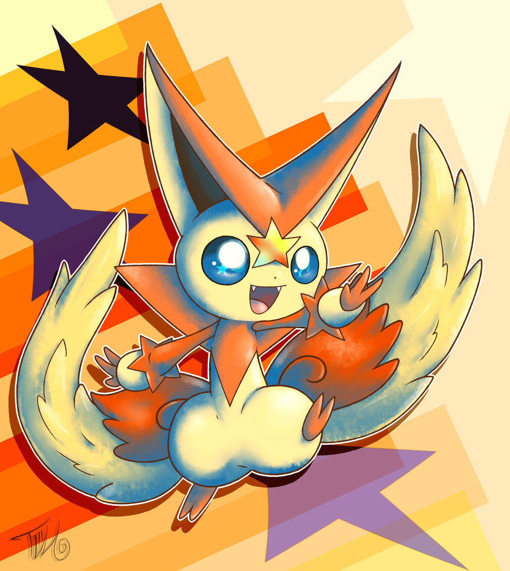 Mega Victini! by HalcyonMoufette on DeviantArt